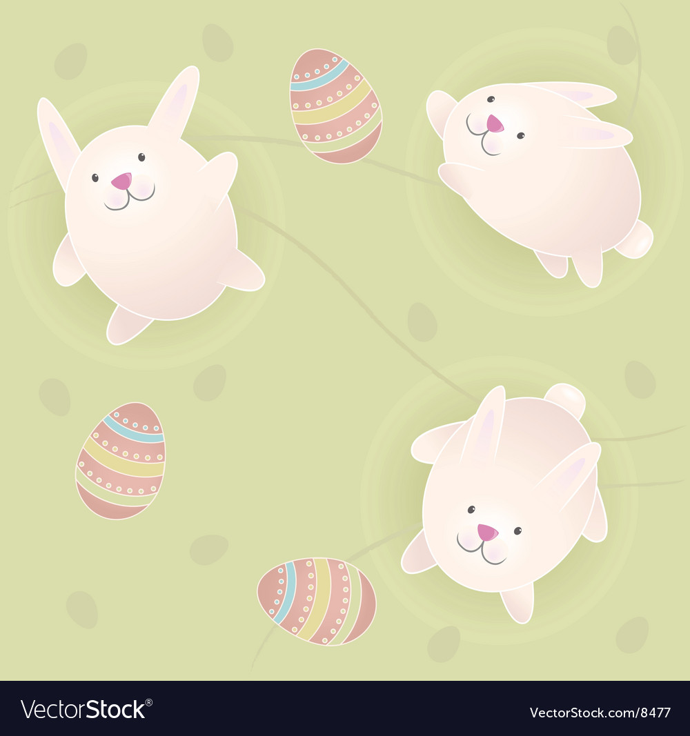 Easter bunnies vector