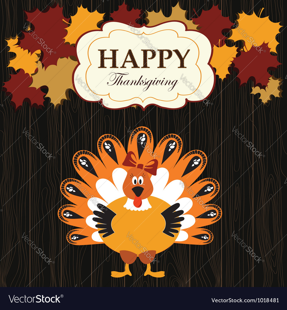 Turkey with maples vector