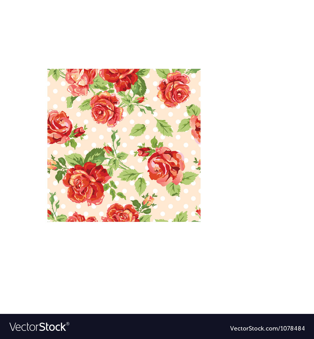 Flowers free wreath vector vector free vector download in ai eps - Fancy Roses Dotty Cream Background Vector By Nannadesign