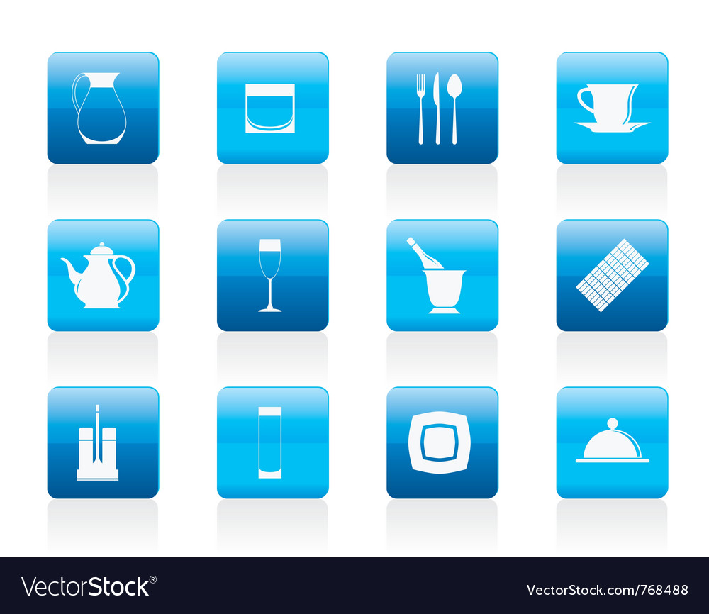 Bar and night club icons vector