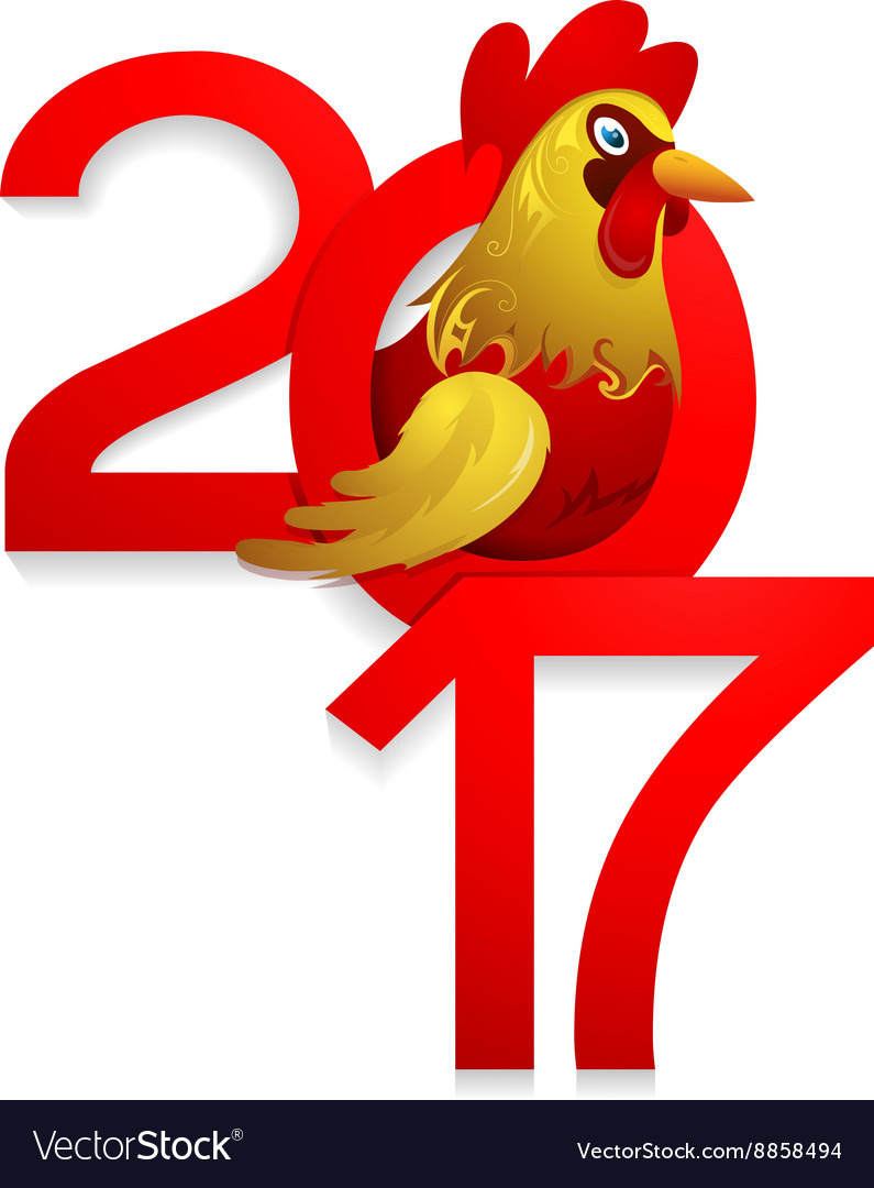 Chinese new year 2017 with rooster vector by AKV - Image #8858494 ...