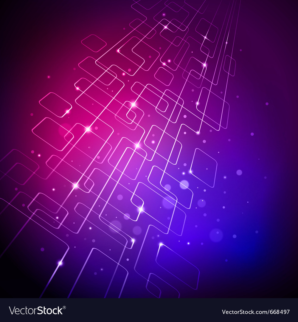 Abstract purple tech background vector
