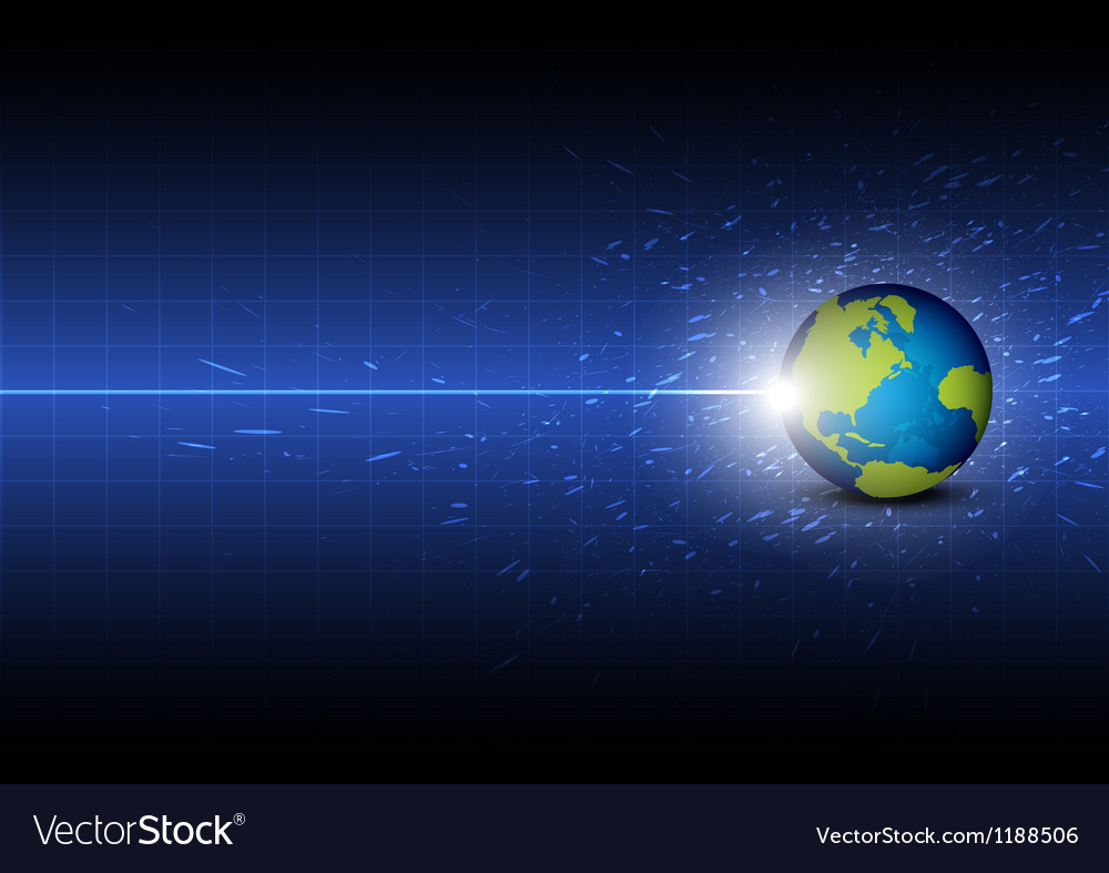 Future digital global technology background vector