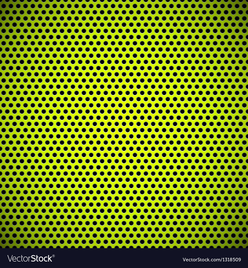 Green seamless circle perforated grill texture vector