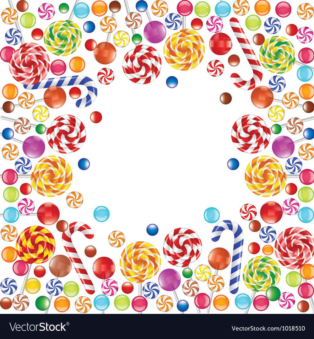 Candies frame vector