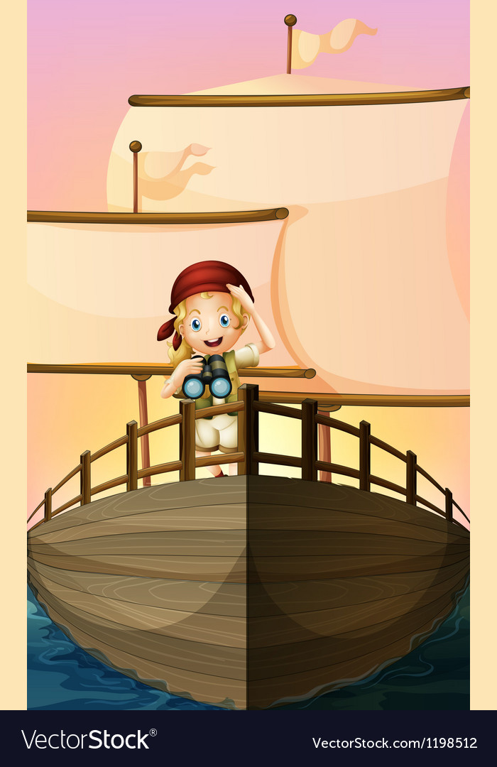A pirate girl vector