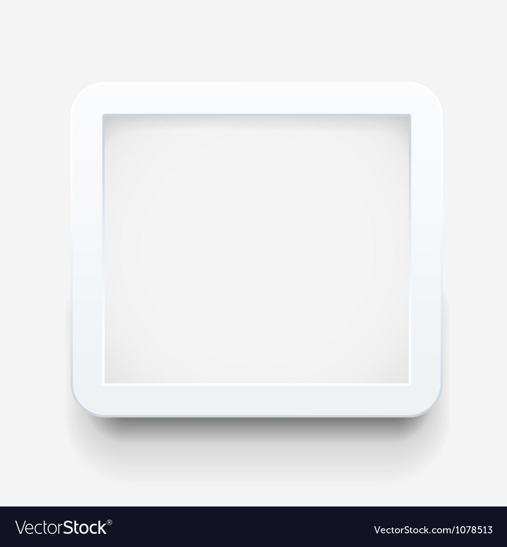 Empty frame template vector