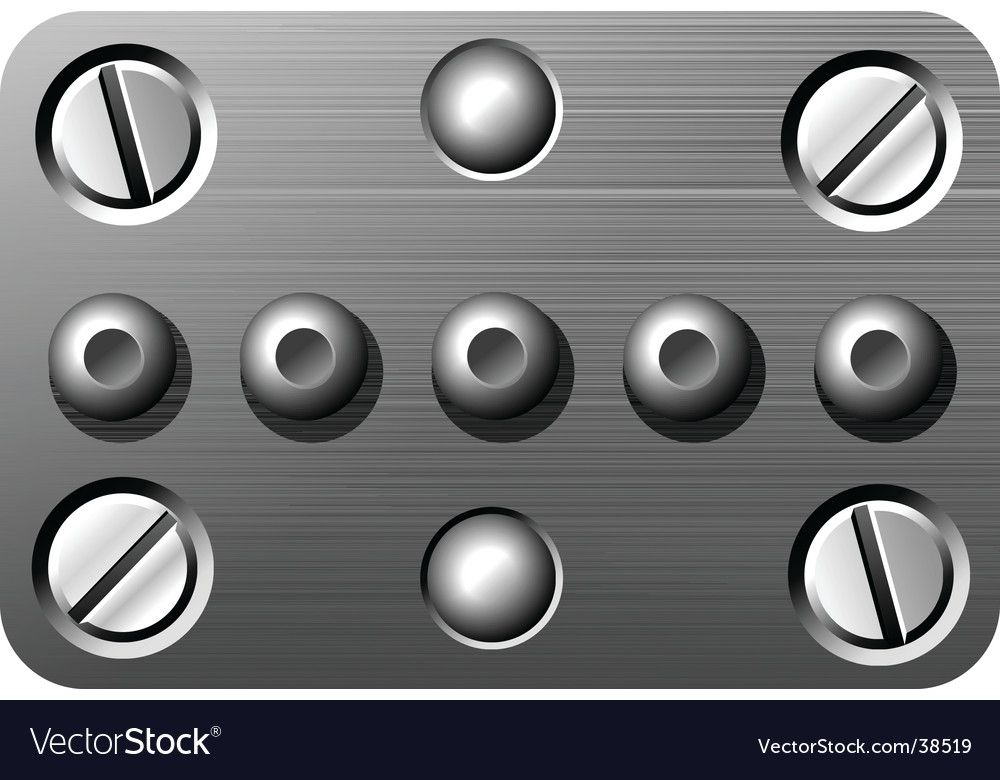 Nuts and bolts vector