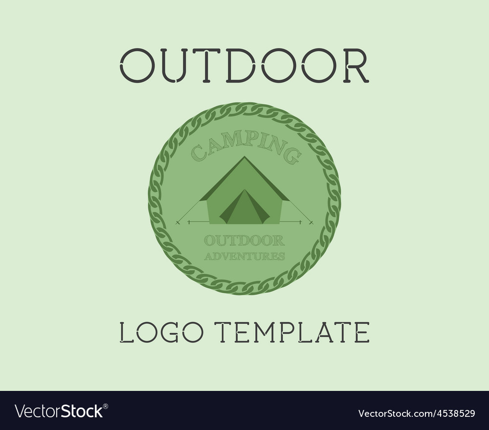 Adventure outdoor tourism travel logo template