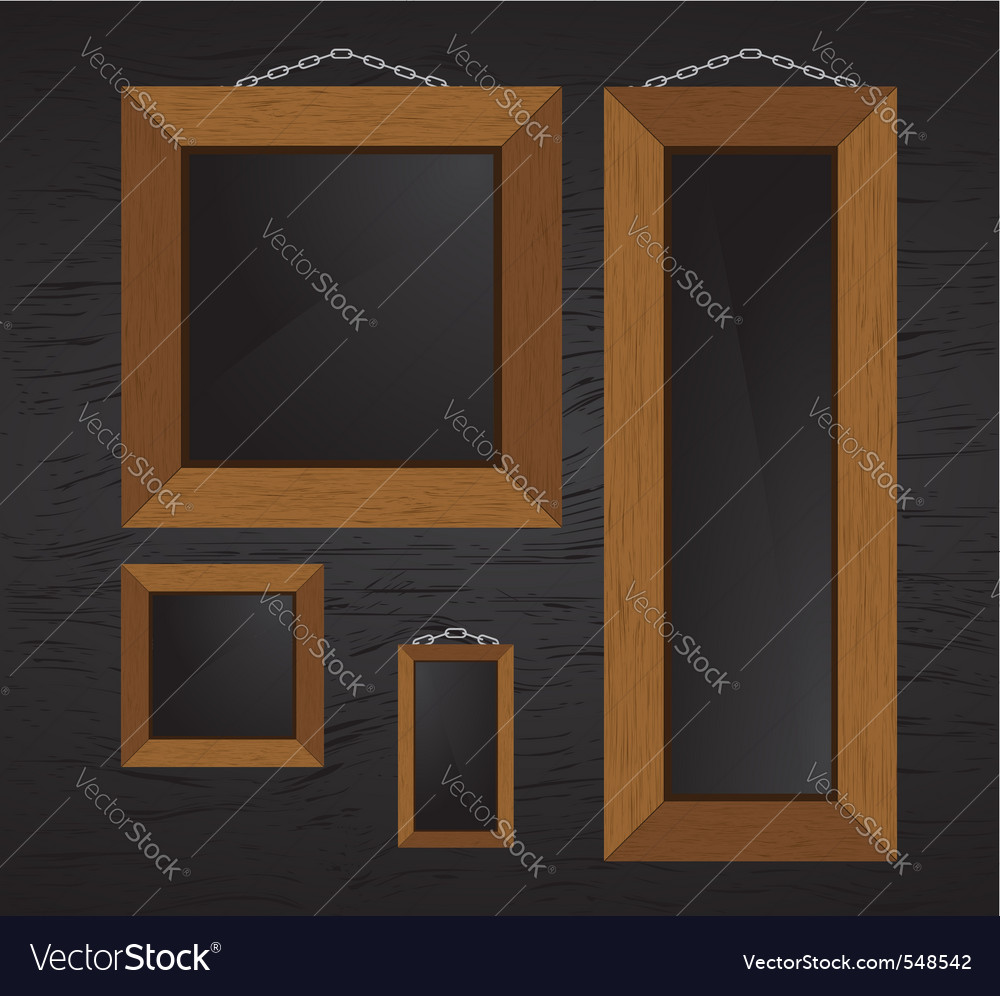 Wood frames vector