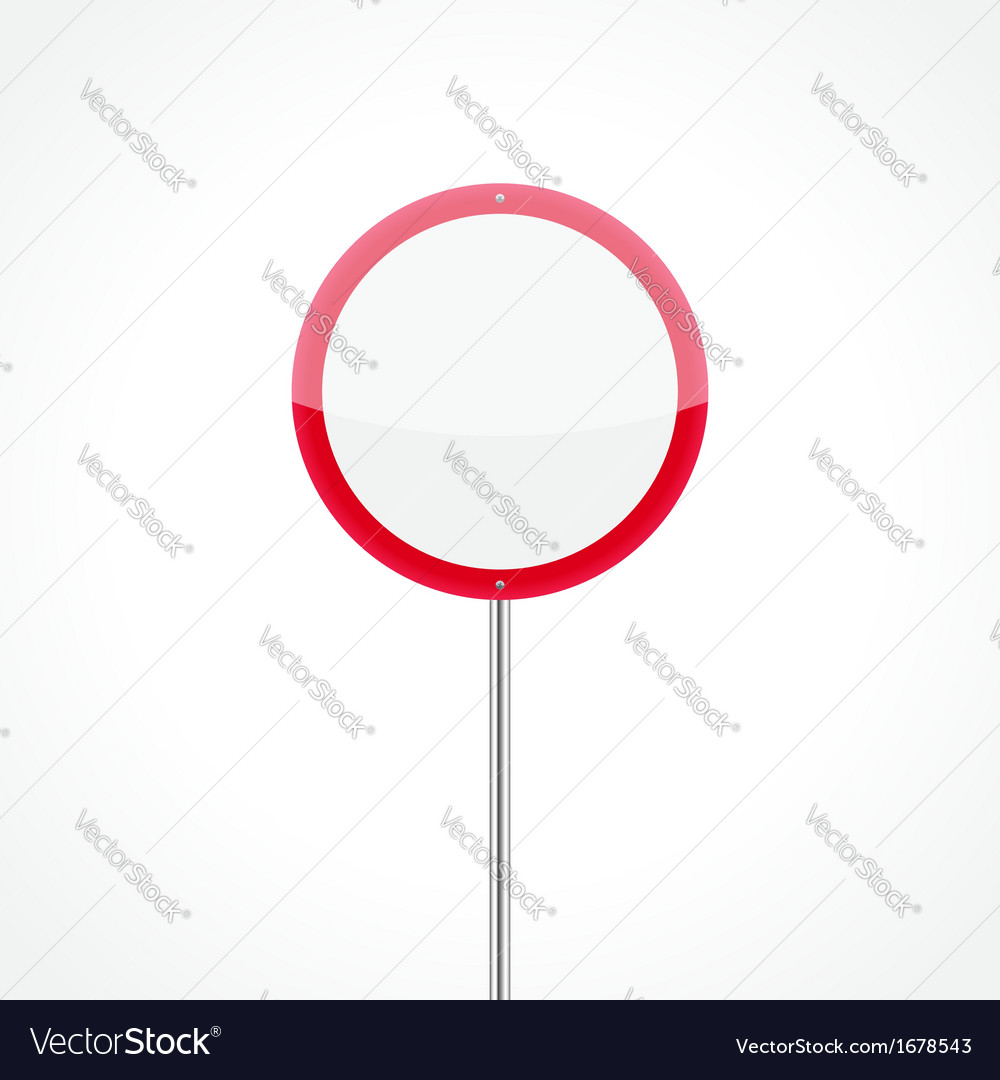 No vehicles traffic sign vector