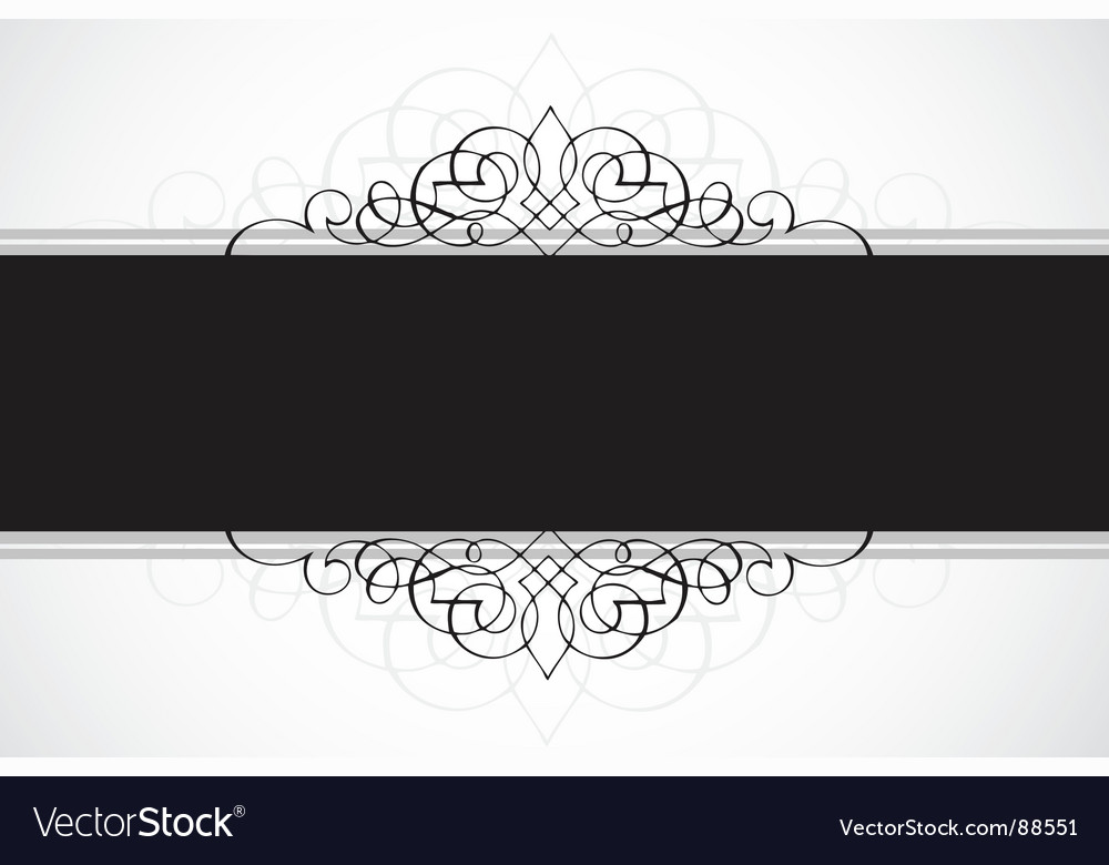 Frame with decoration vector