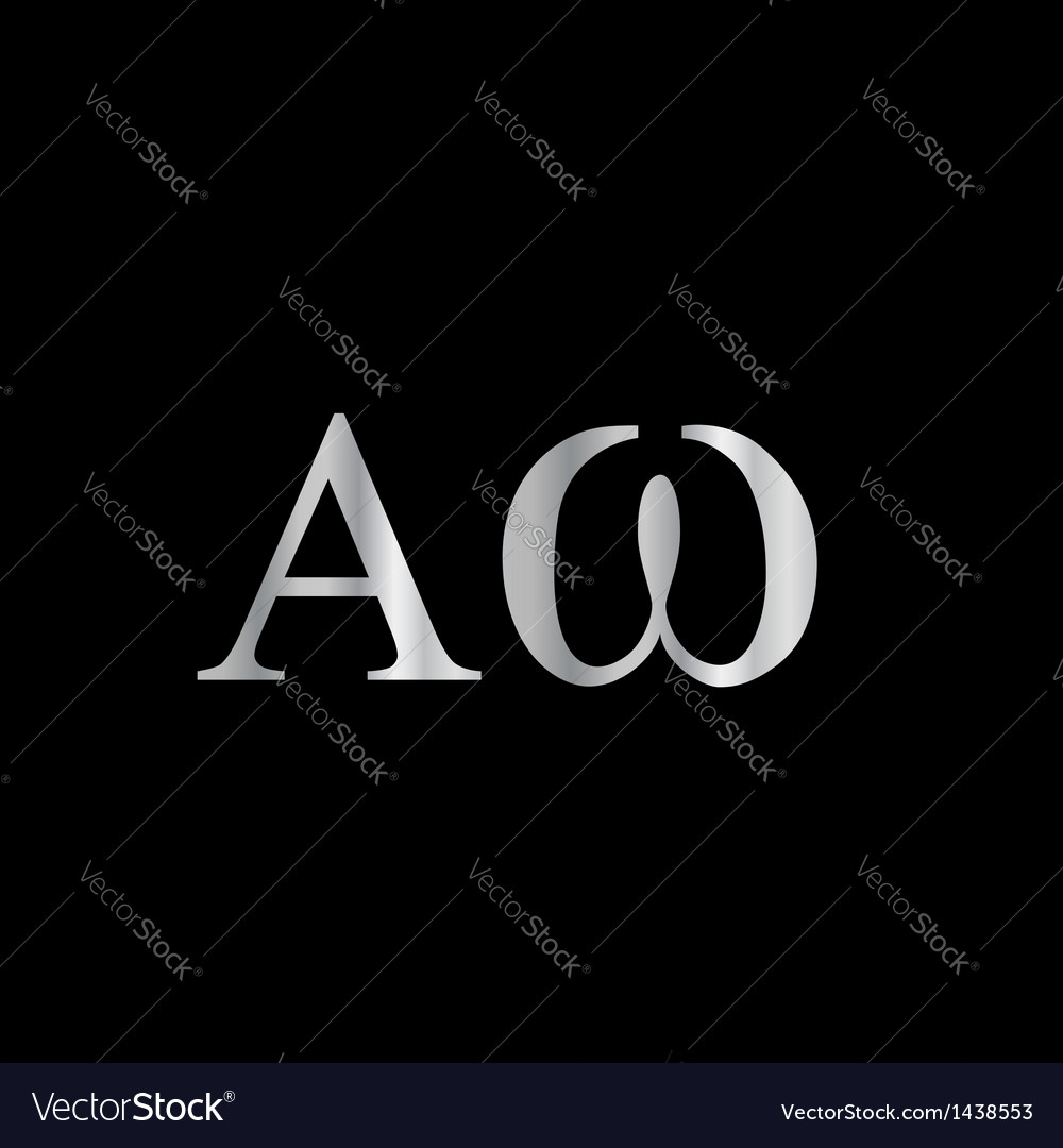 Greek letter alpha and omega vector