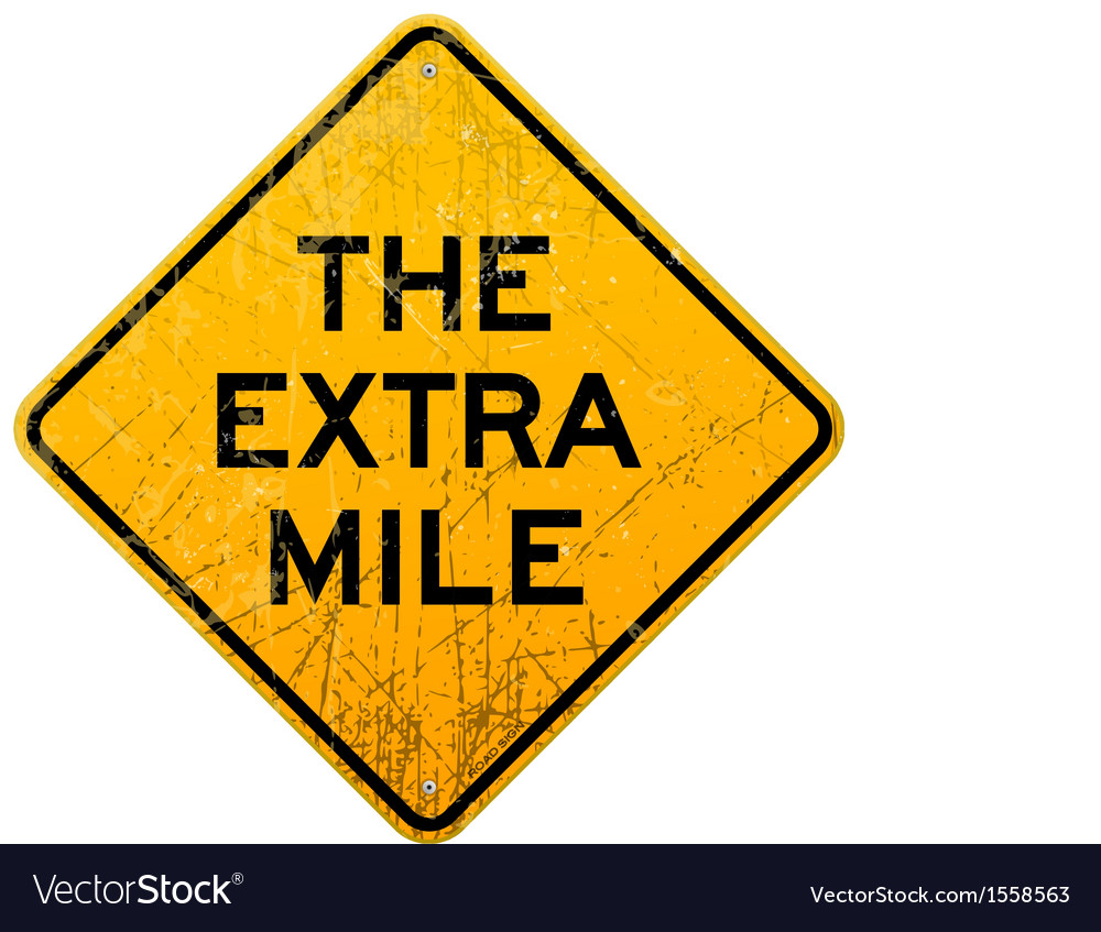 Extra mile vector