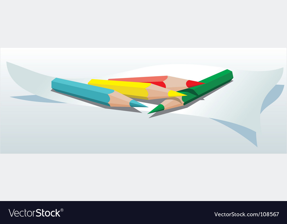 Free color pencils vector