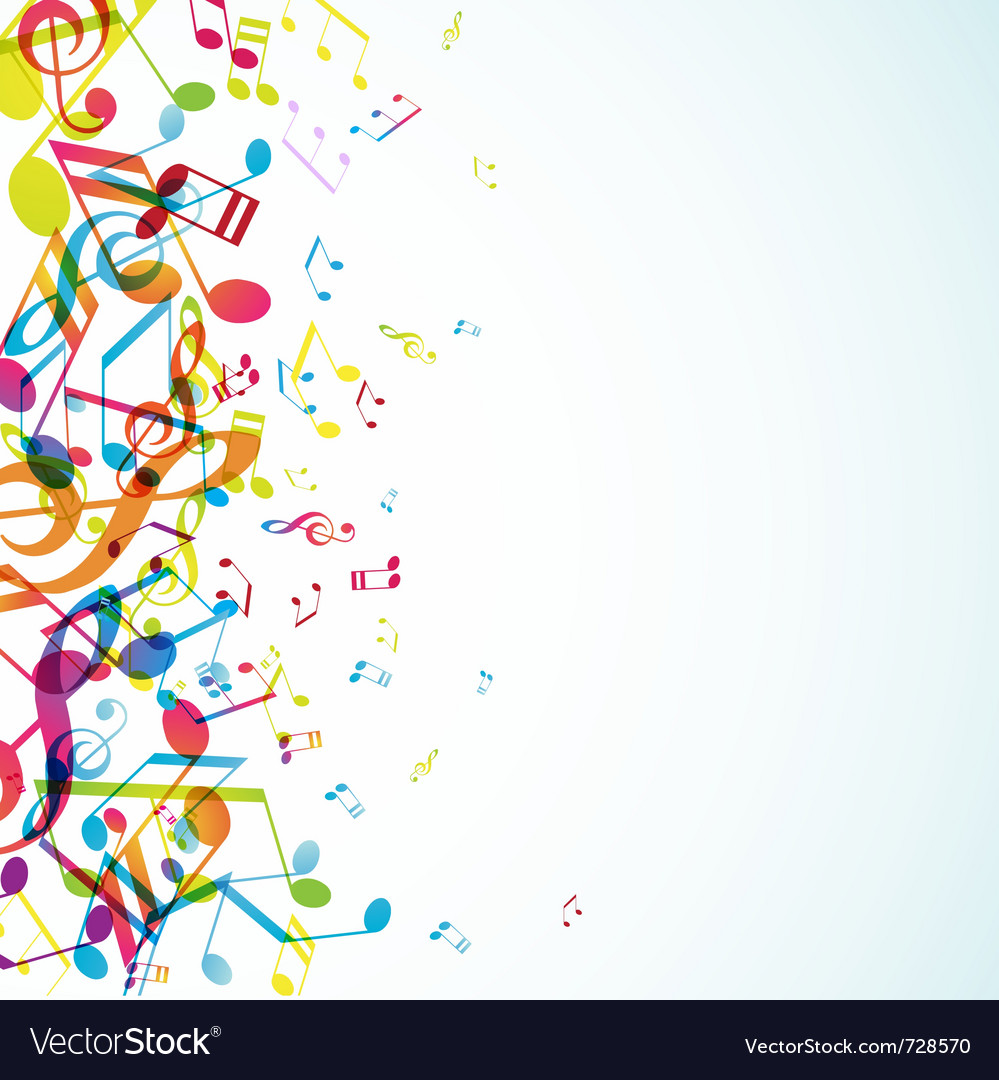 Colorful tunes vector