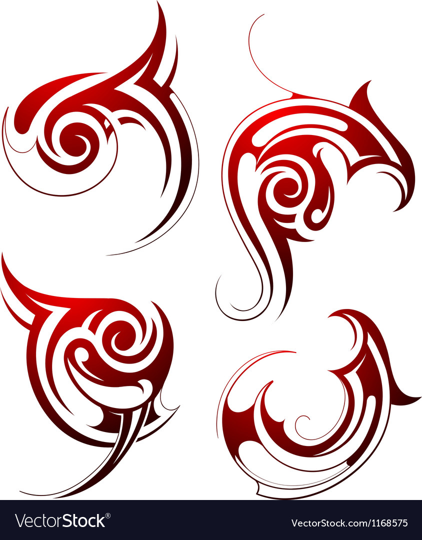 Abstract tribal tattoo design vector