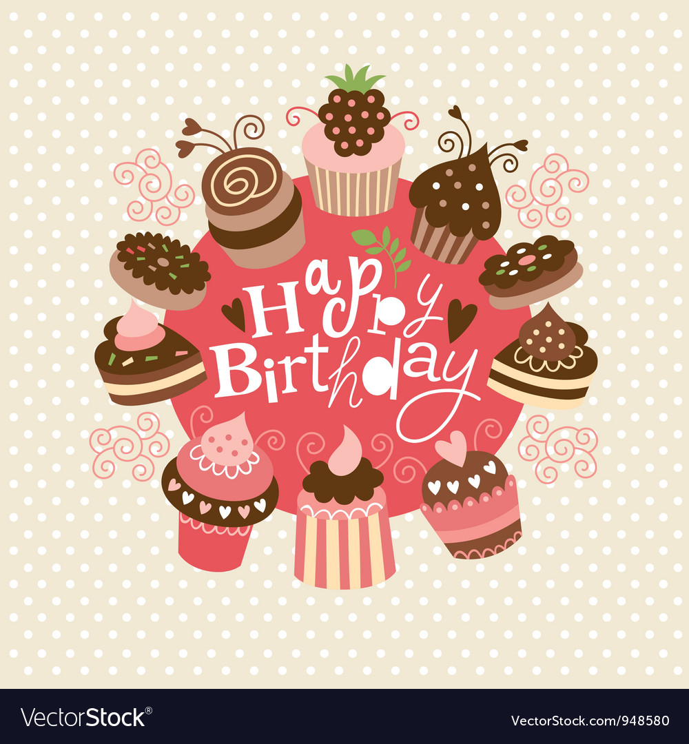 greeting birthday card vector by lenlis  image   vectorstock, Greeting card