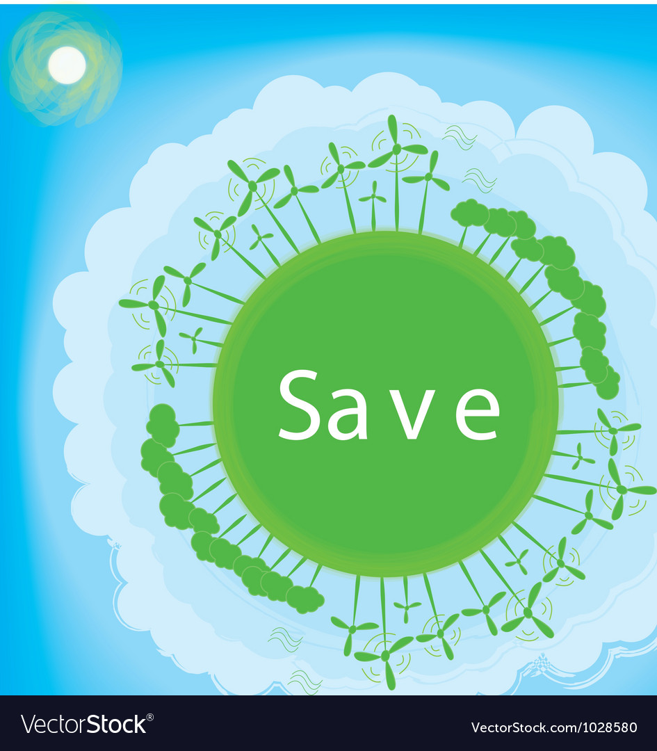 Free think green ecology concept vector