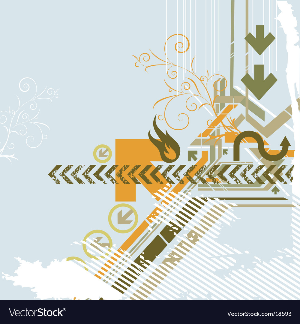 Urban background elements vector