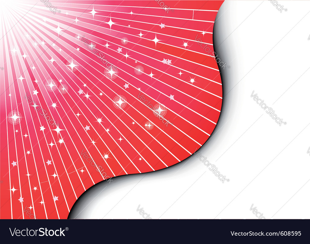 Christmas background with red rays vector