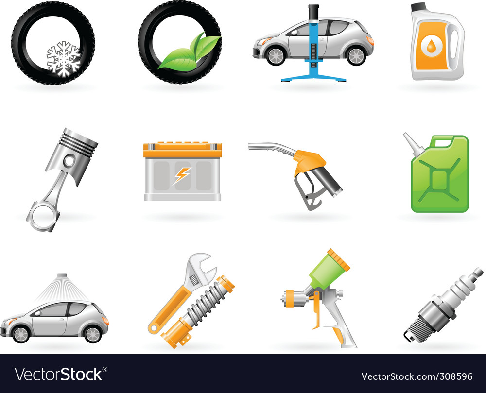 Car service and repairing icon vector