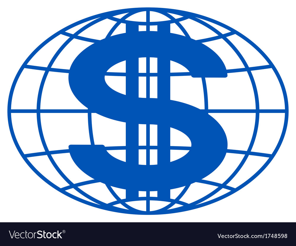Globe and dollar vector