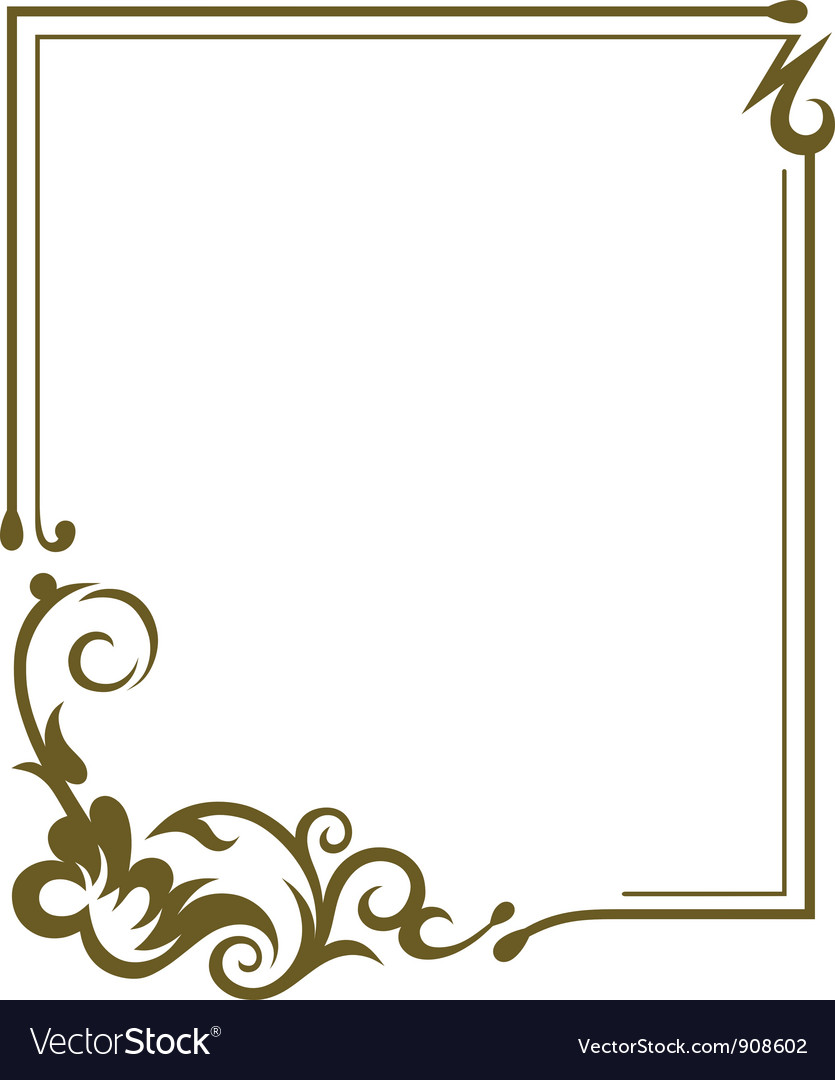 Frame Design Vector By Kreatiw Image 908602 Vectorstock