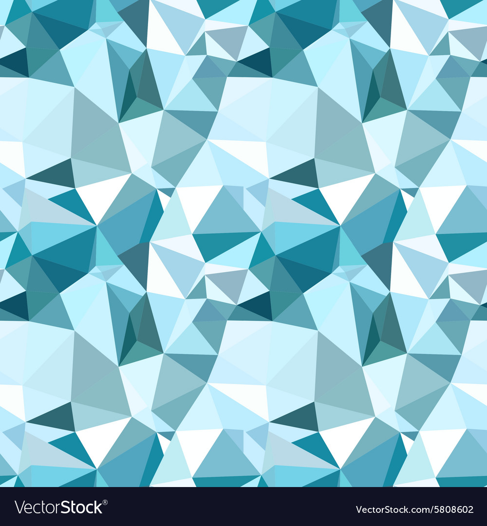 Low poly seamless pattern blue winter