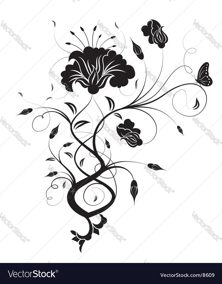 Background flower vector by TAlex - Image #8609 - VectorStock Vintage Border Vector