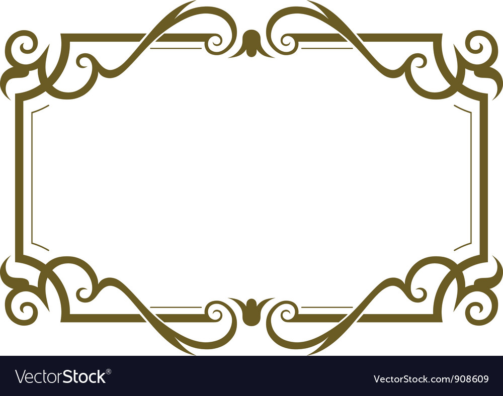 Frame Design Vector By Kreatiw Image 908609 Vectorstock