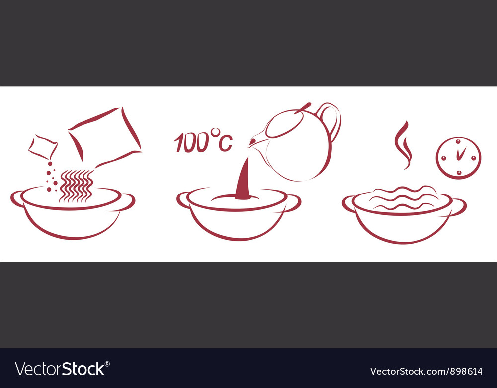 Fast soop schema of cooking vector
