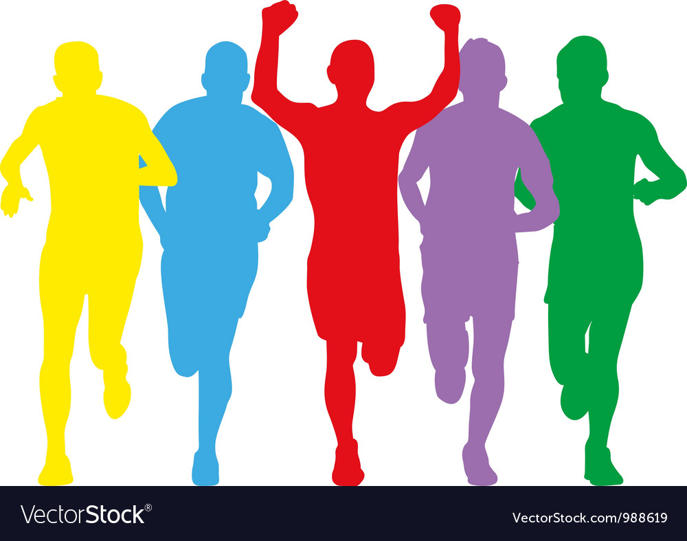Colourful runners vector