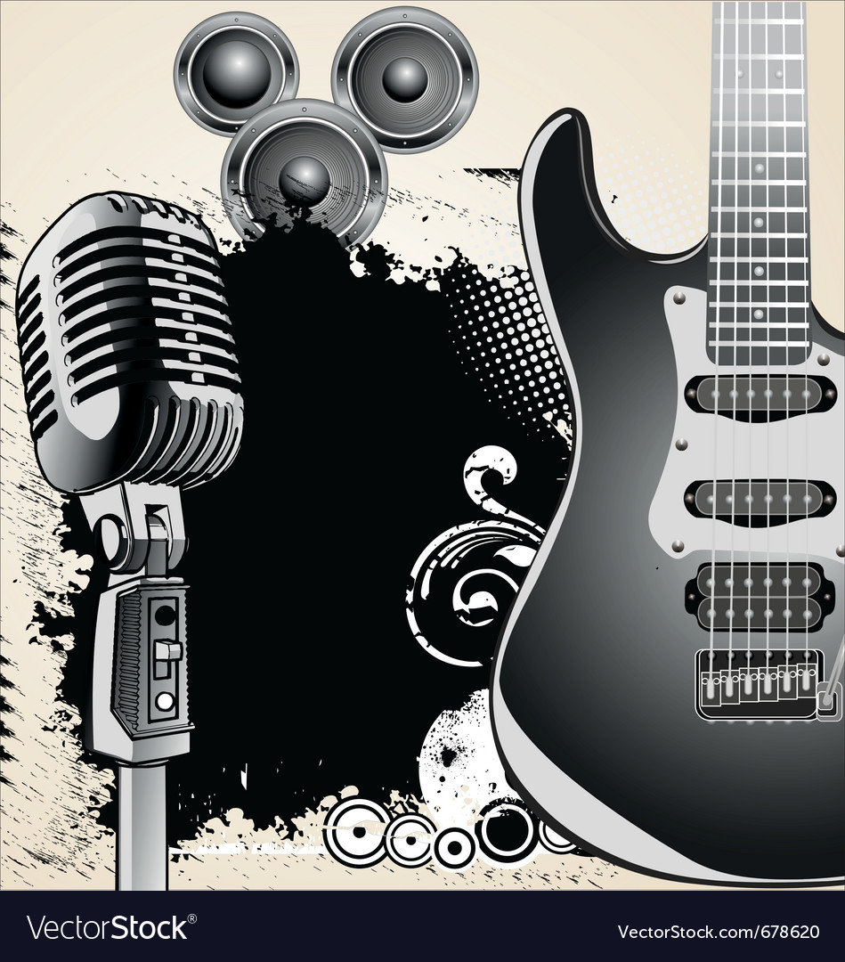 Grungemusicbackground vector