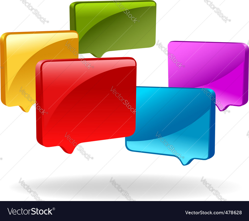 3d speech bubbles vector