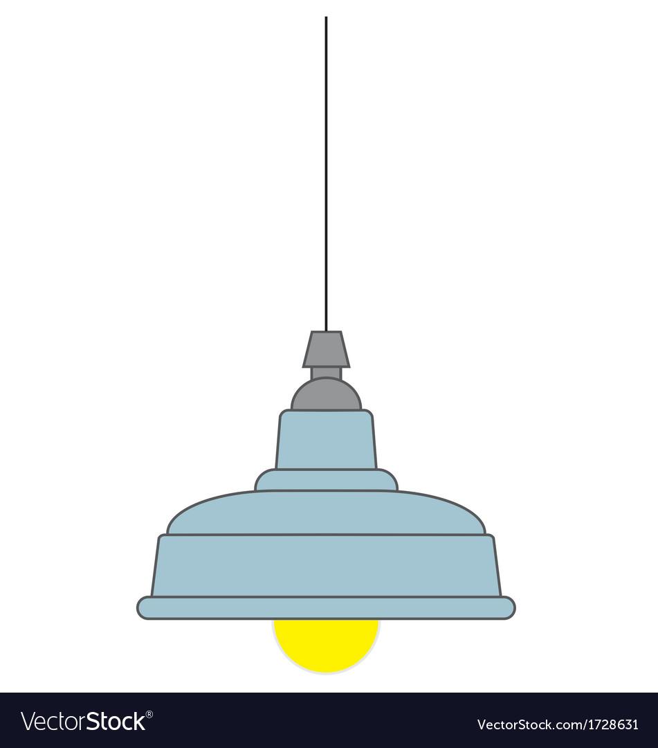 Industrial Style Pendant Ceiling Light Vector By Rheyes