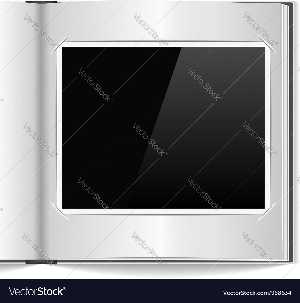Photo album vector
