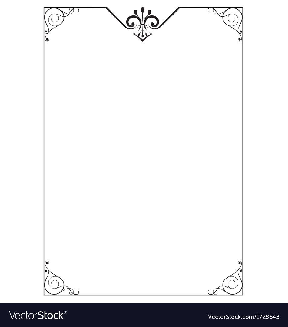 Decorative page border vector by rheyes - Image #1728643 - VectorStock