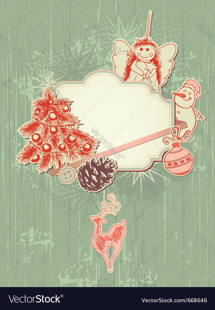 Scrap booking kit for christmas vector
