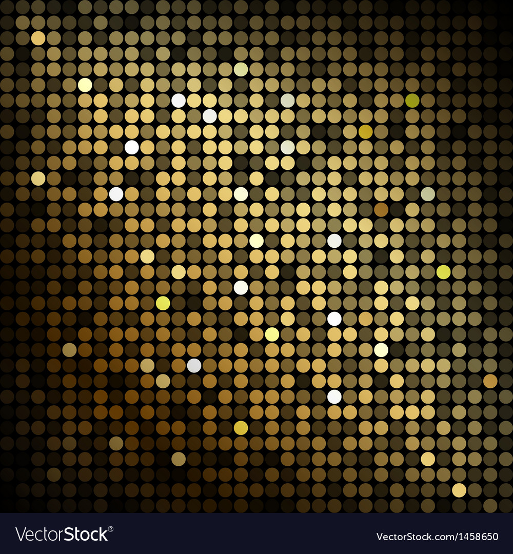 Gold disco lights  abstract background vector