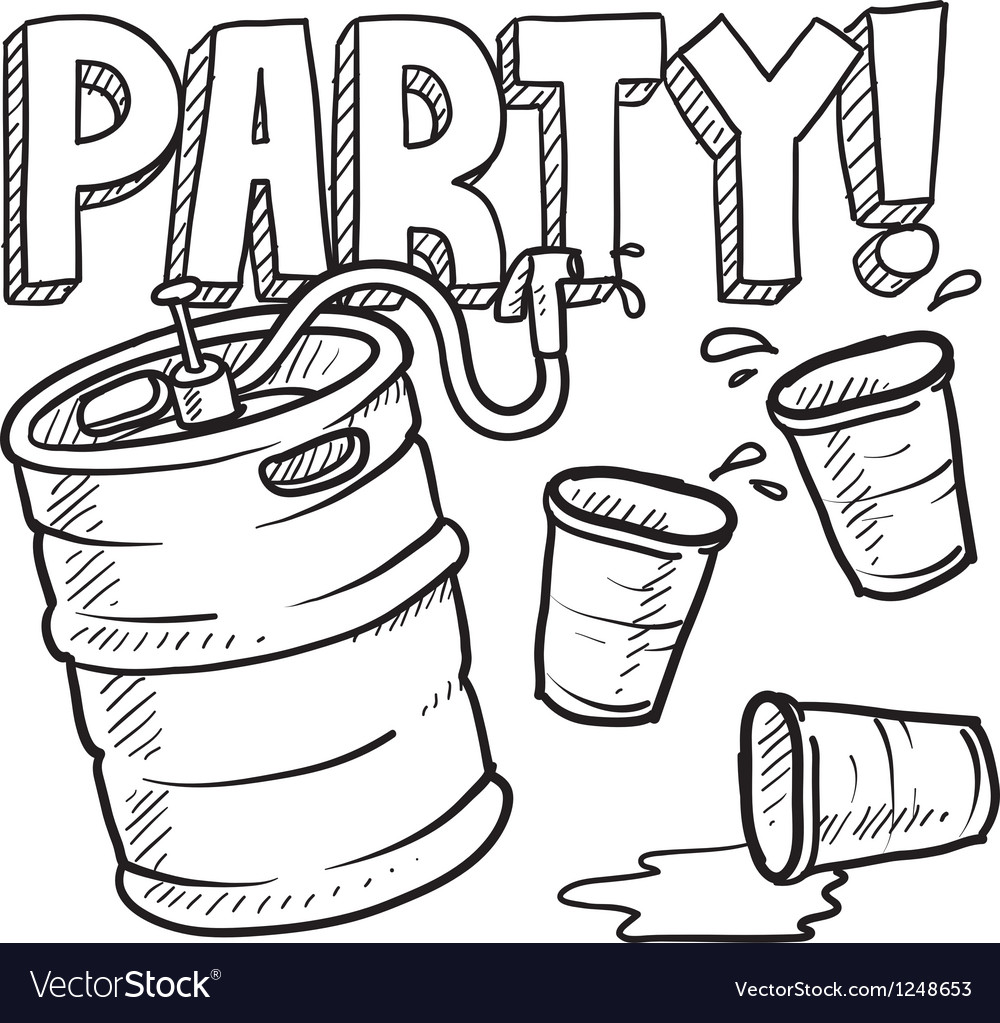 Party and beer vector