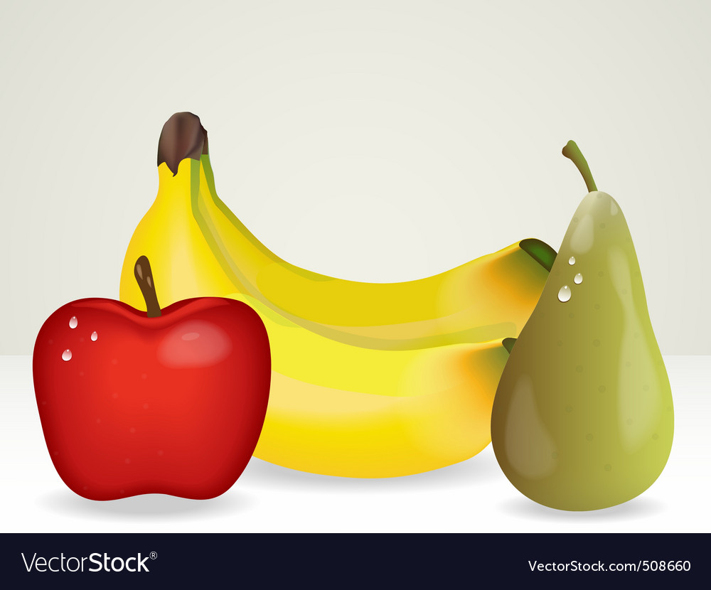 Bunch of fruit vector