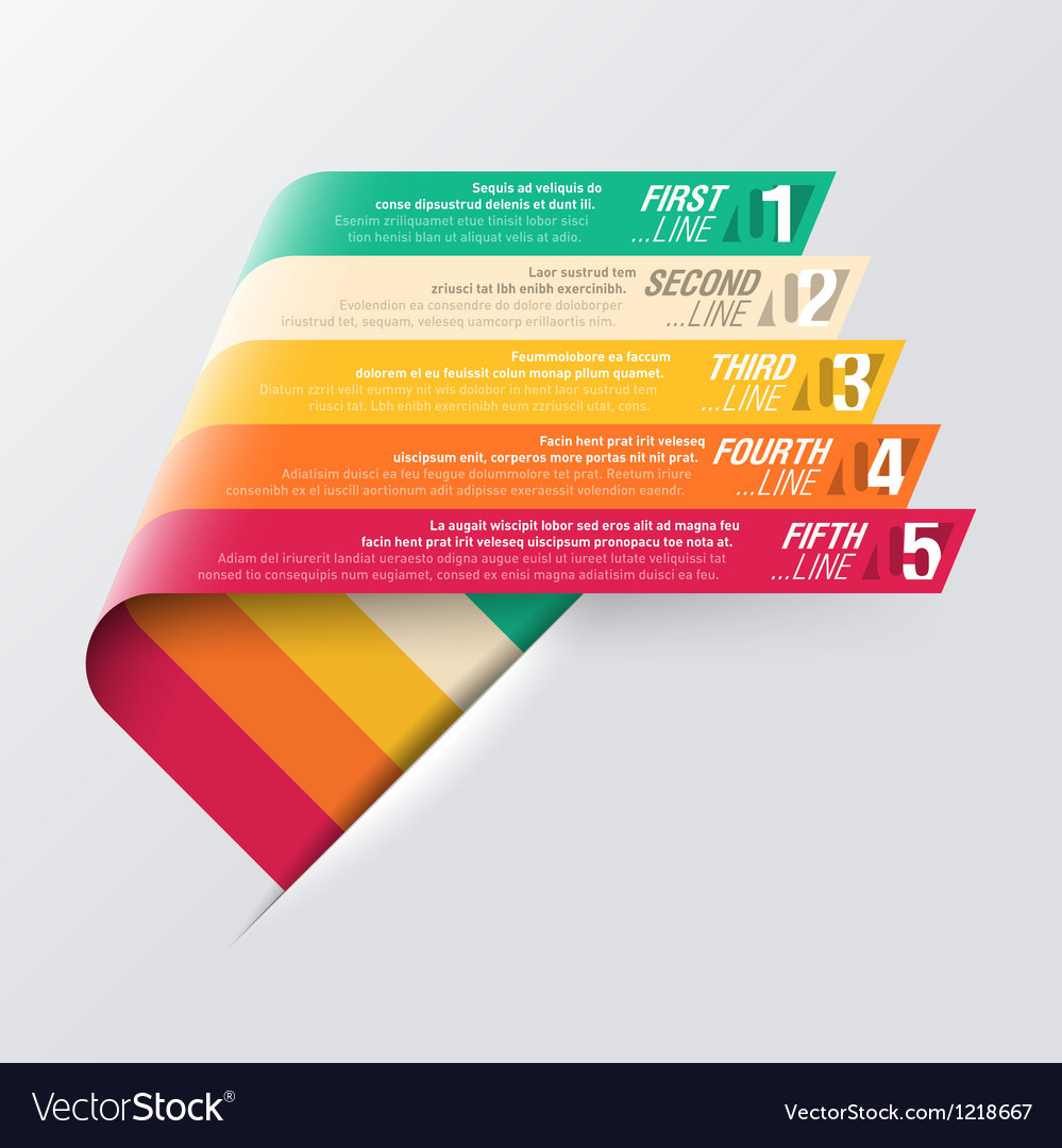Curved strips  design template vector