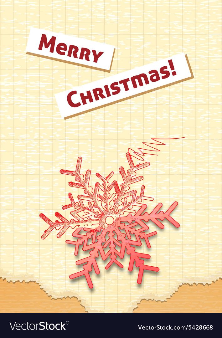 Christmas with snow flake