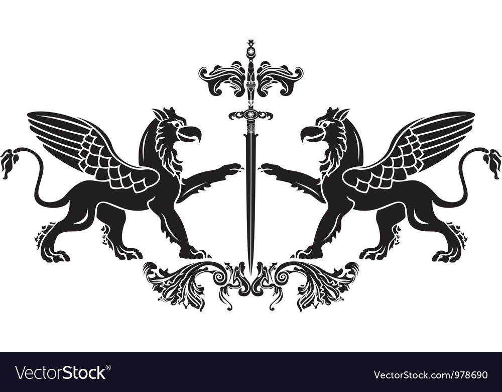 Griffin sword vector