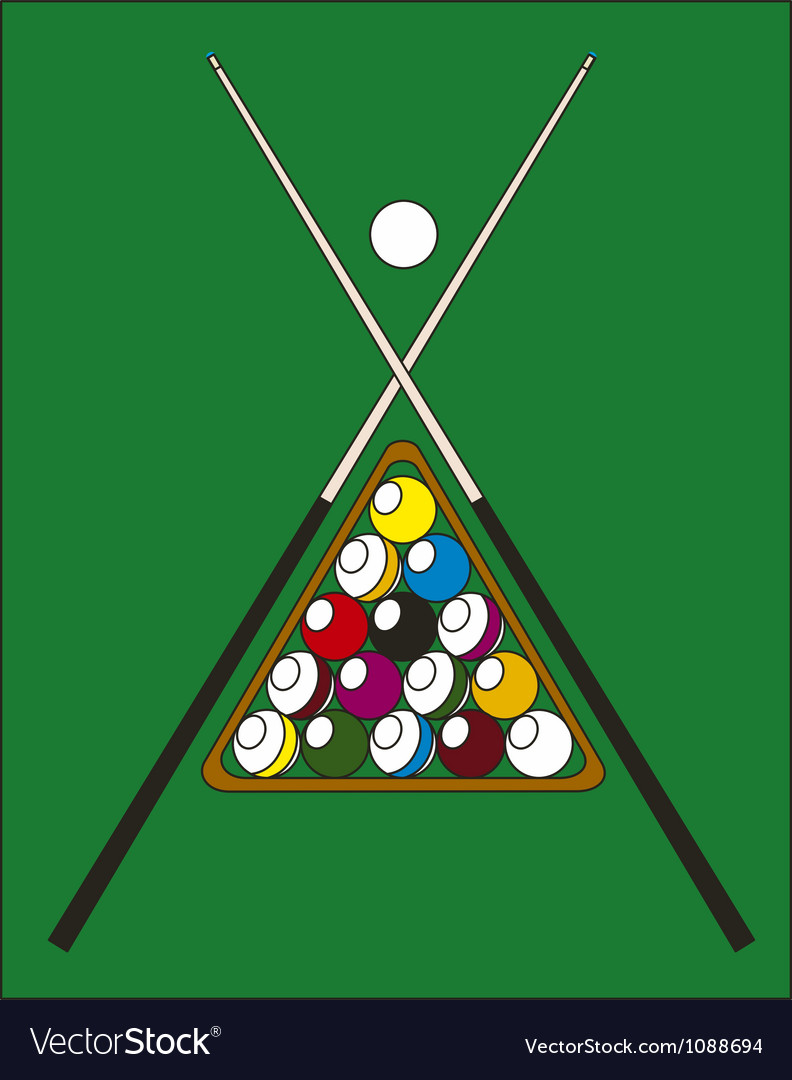 Billiard pool vector