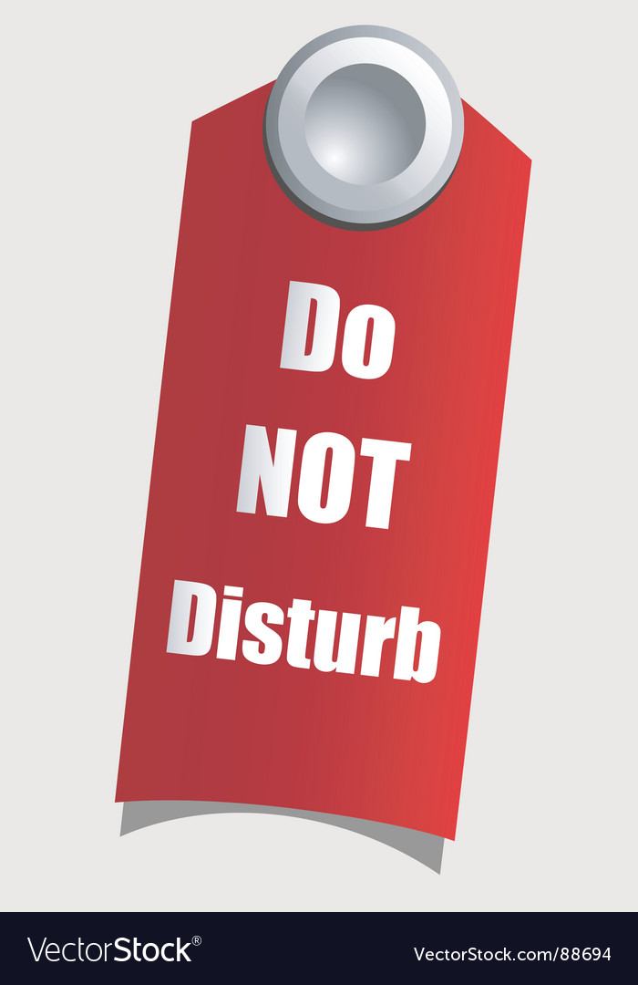 Do not disturb vector