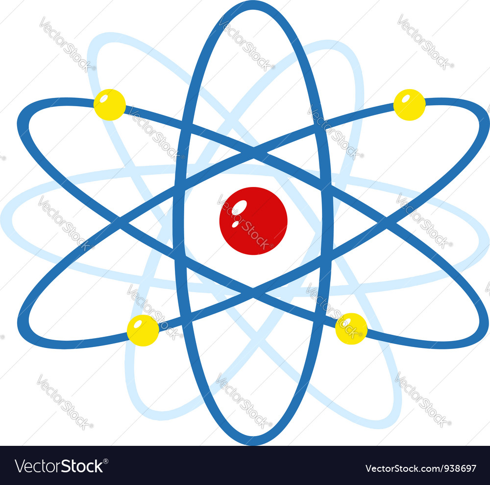 Colorful atom vector