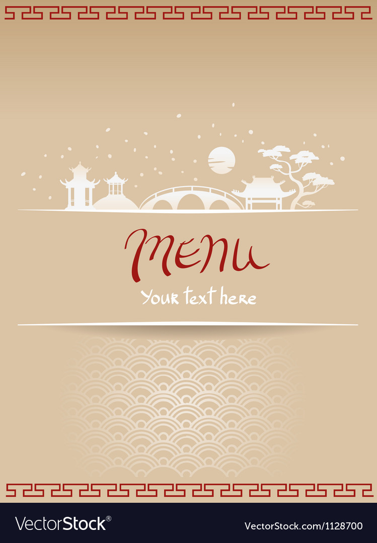Template design of asian menu vector