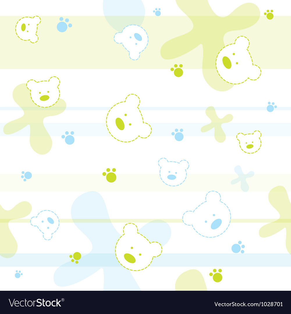 Cute bears children wallpaper vector